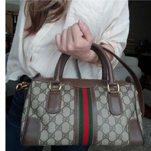 Authentic Vintage Gucci Boston Satchel